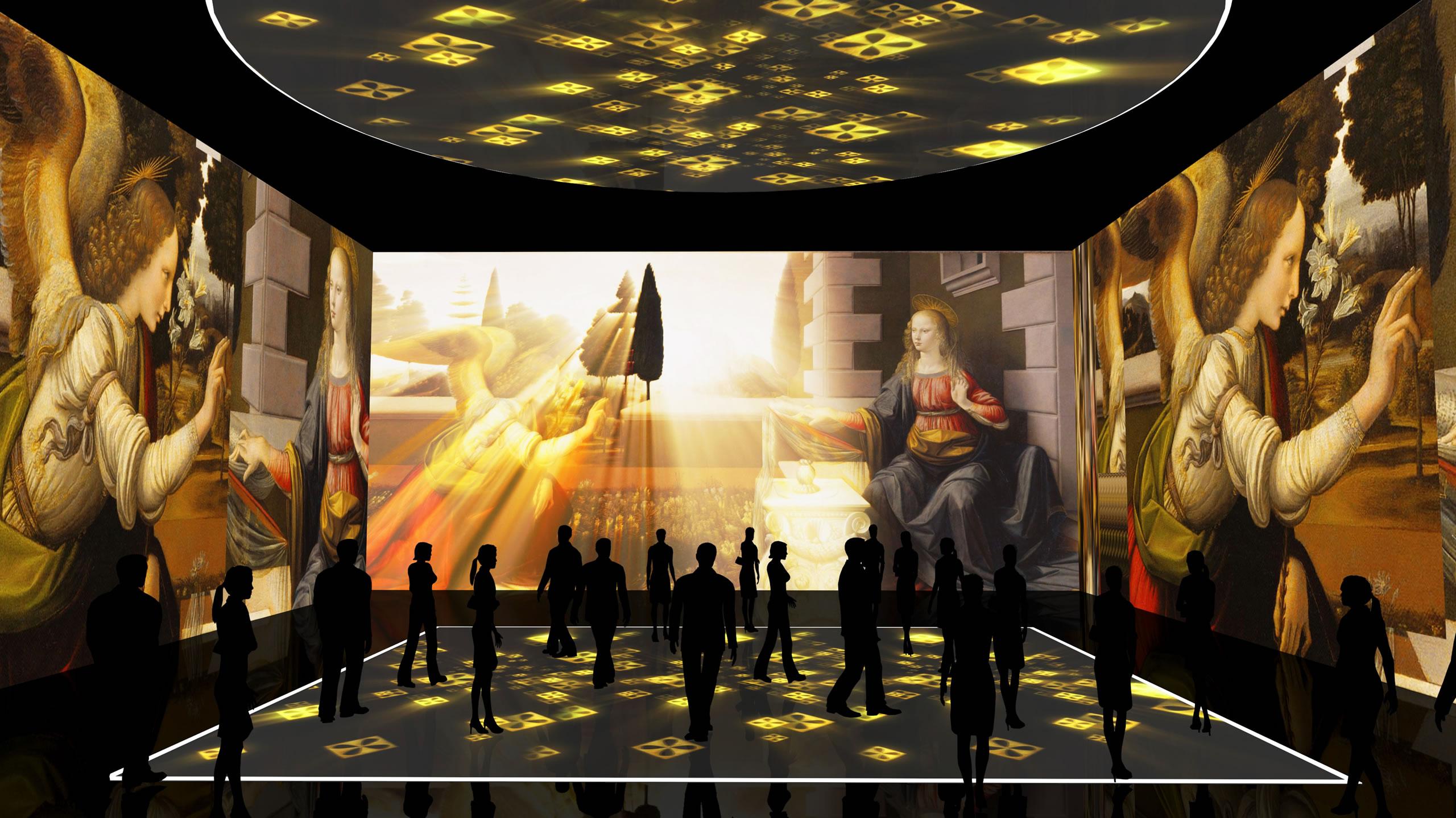 A Milano, Leonardo da Vinci è anche in 3D: alla Fabbrica del Vapore un evento multisensoriale