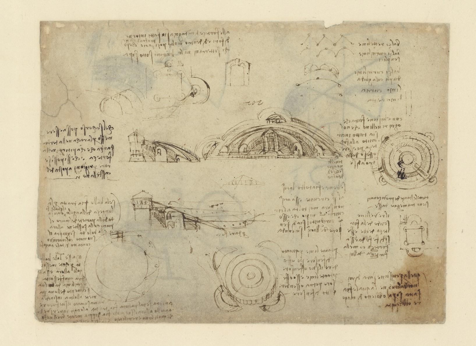 Leonardo da Vinci fu anche ingegnere militare: a Bologna una mostra approfondisce questo aspetto