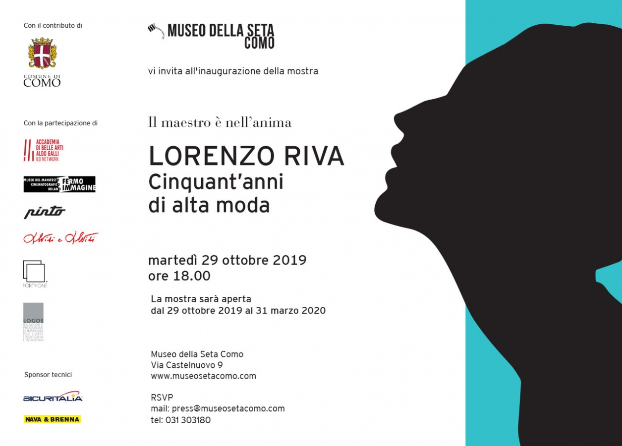 Il Museo della Seta di Como dedica una mostra allo stilista Lorenzo Riva