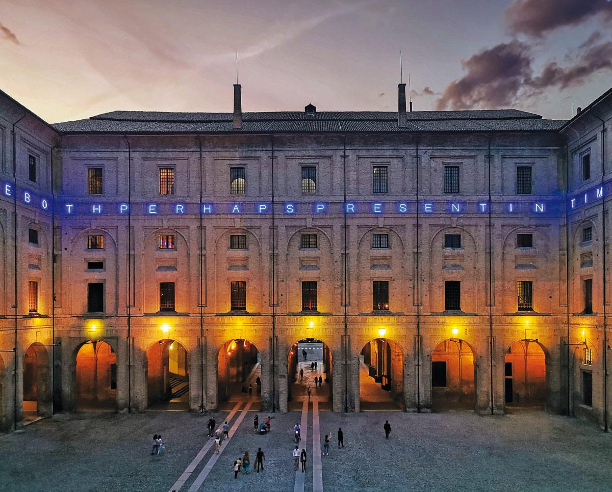 Alla Pilotta di Parma arriva la più grande opera permanente di Maurizio Nannucci mai realizzata in Italia