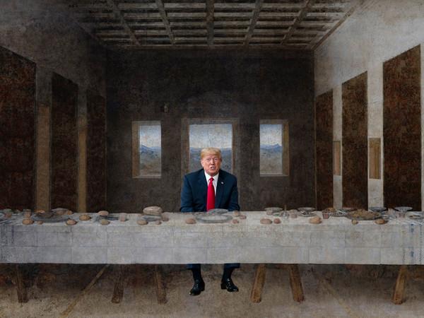 Cosa succede se Trump e Kim Jong-un entrano nella storia dell'arte? La risposta la dànno Papeschi e Ferrigno a Palermo