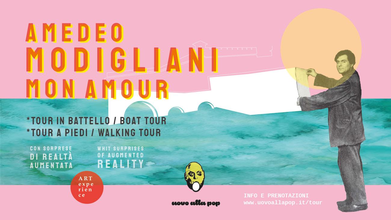 Modigliani Mon Amour: a Livorno un tour che racconta il grande pittore attraverso la street art
