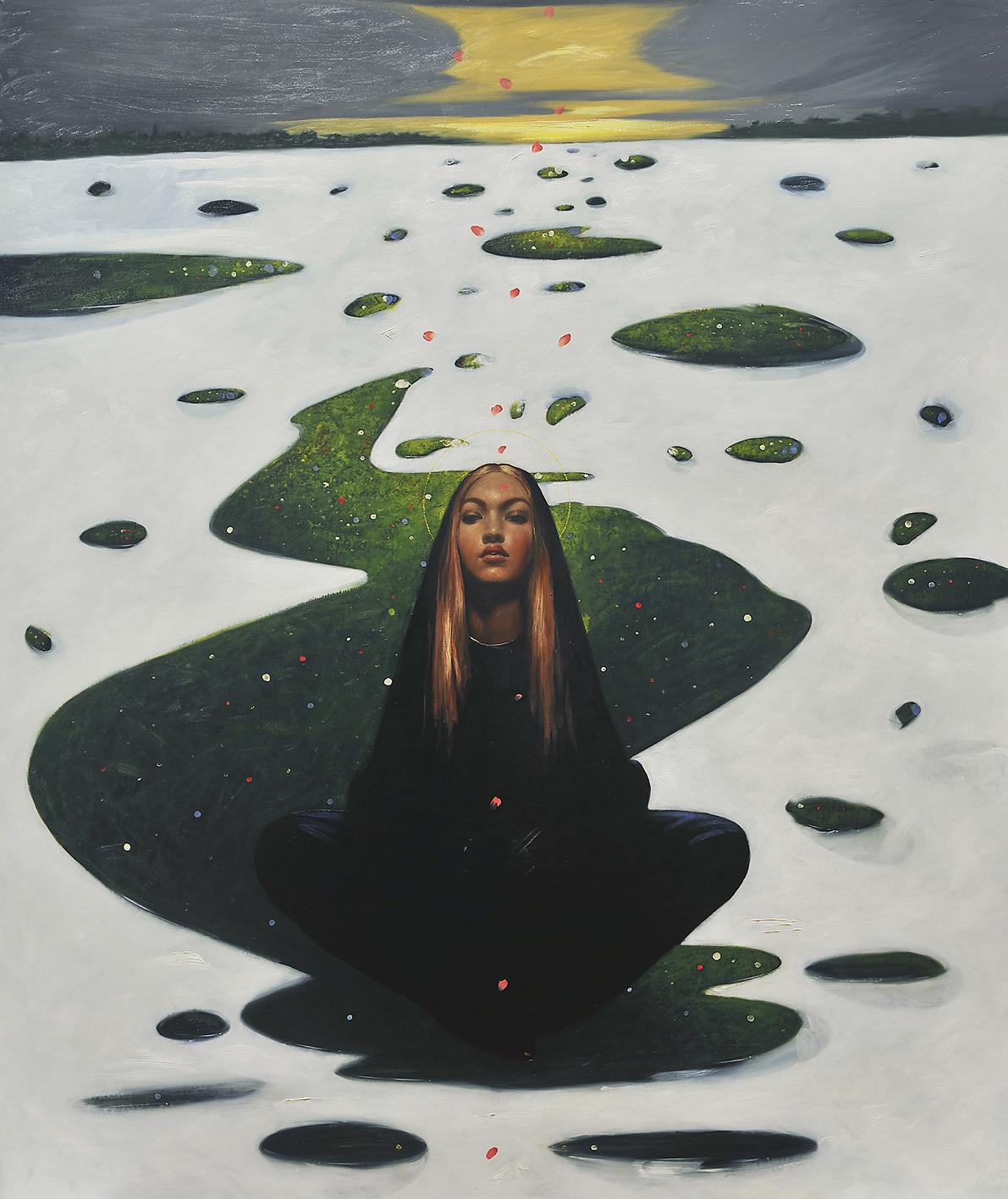 """A Venezia la prima mostra di soli olii su tela di Omar Galliani: """"Dipinta. La metis dell'acqua"""""""