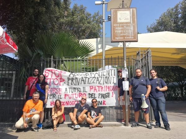 Una manifestazione contro gli accorpamenti dei musei italiani e le privatizzazioni, e per chiedere più risorse