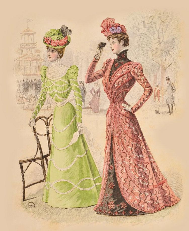 La moda francese per le contesse Thun. Castel Thun mostra le riviste illustrate dell'epoca.