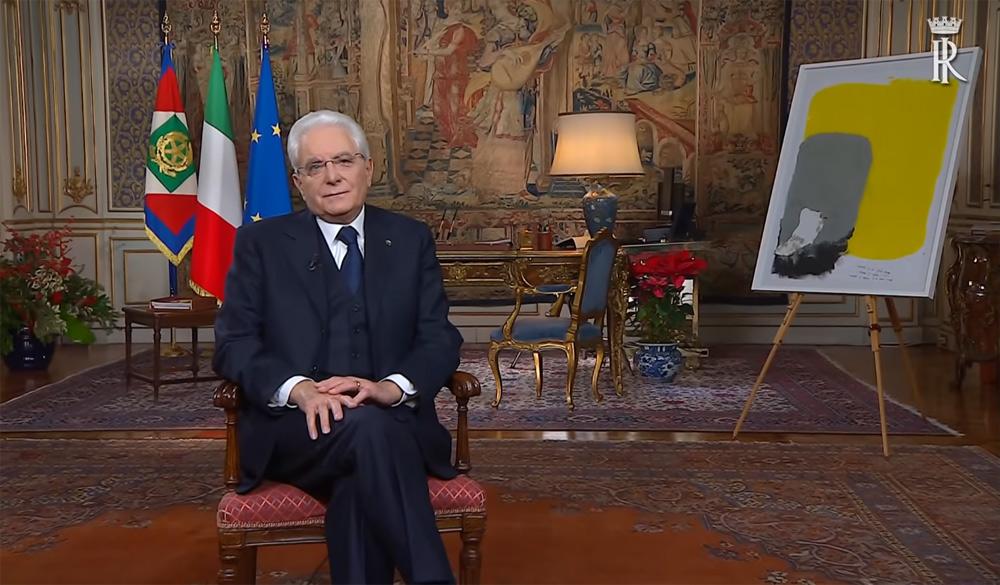 Nel messaggio di fine anno, il presidente Mattarella espone un dipinto dei ragazzi del Centro per l'autismo