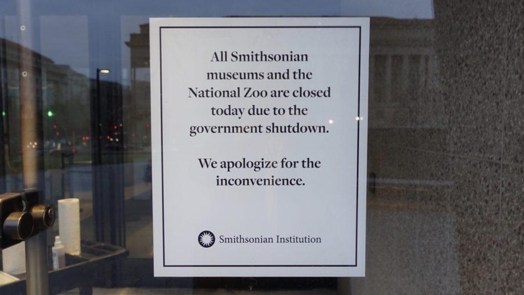 Washington, National Gallery e Smithsonian chiusi a causa dello shutdown per il muro di Trump