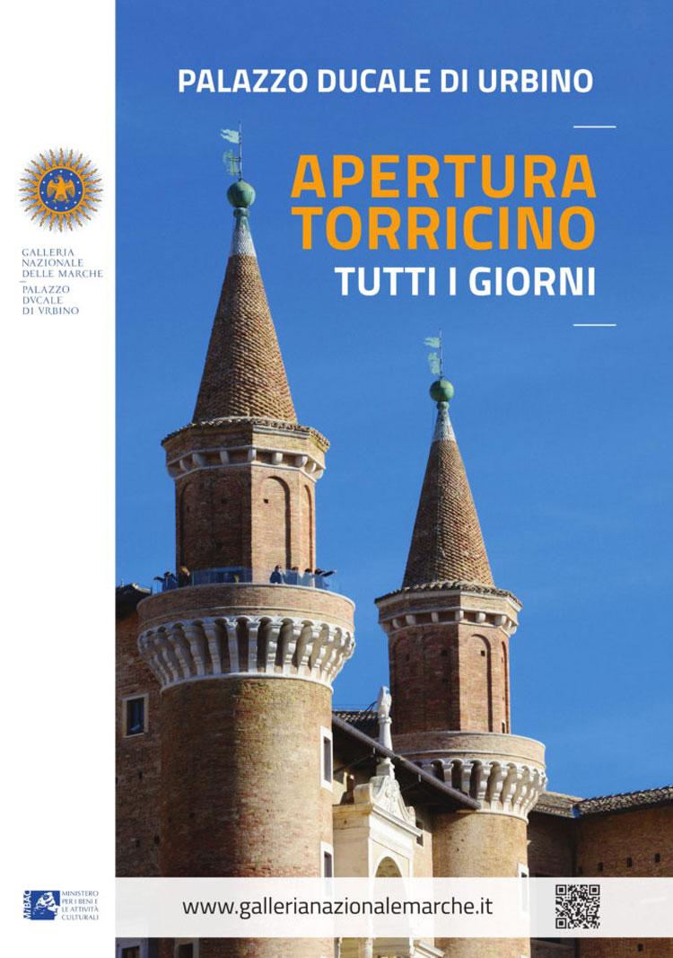 Aperto tutti i giorni al pubblico il Torricino di Palazzo Ducale di Urbino