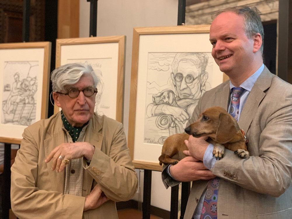 Valerio Adami dona agli Uffizi quattro suoi disegni