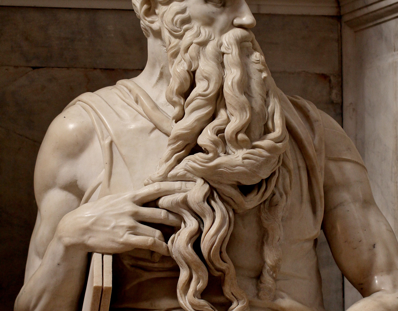 Michelangelo Buonarroti, Mosè, dettaglio della barba. Ph. Credit Jörg Bittner Unna