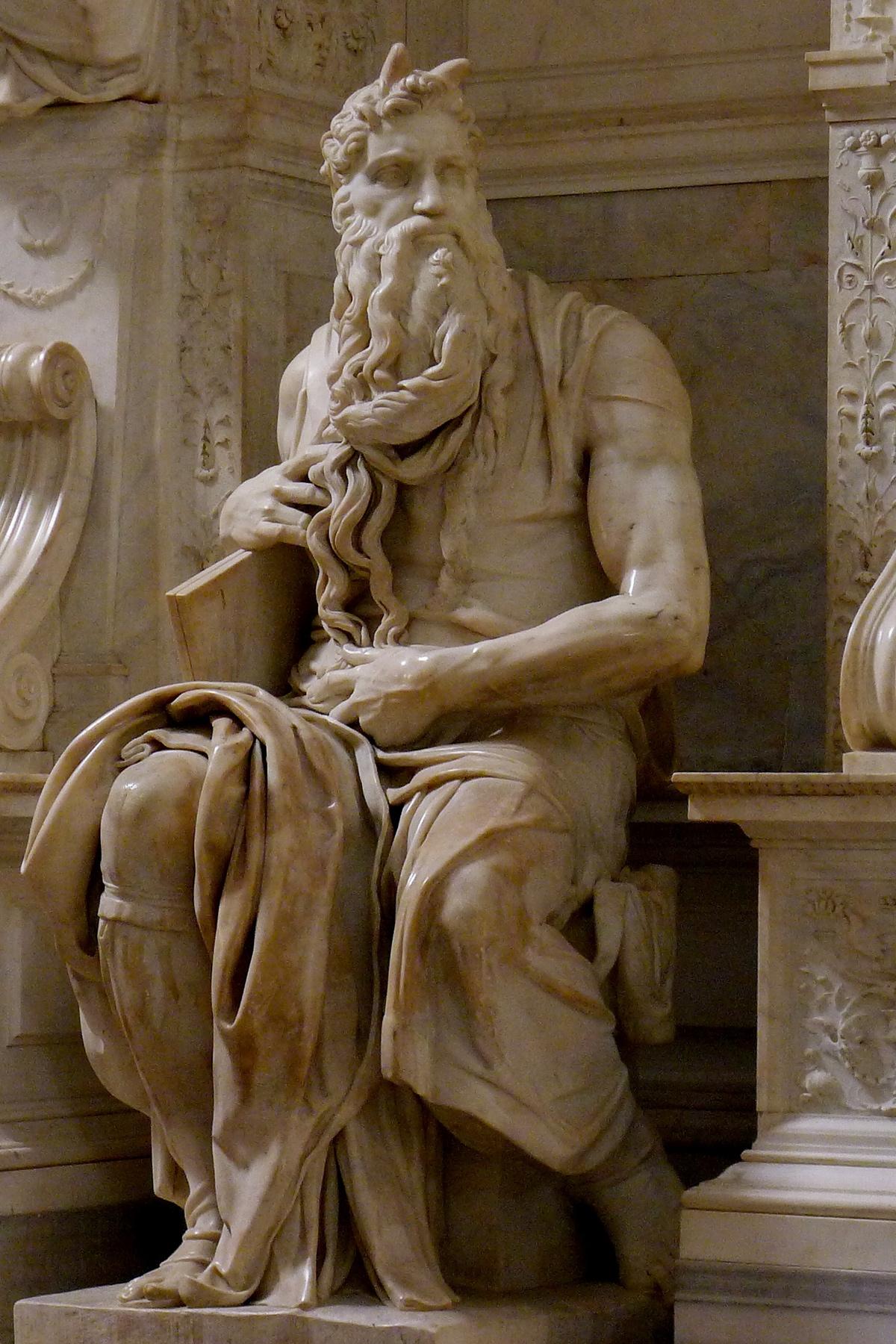 Michelangelo Buonarroti, Mosè (1513-1515; marmo, altezza 235 cm; Roma, San Pietro in Vincoli). Ph. Credit Jörg Bittner Unna