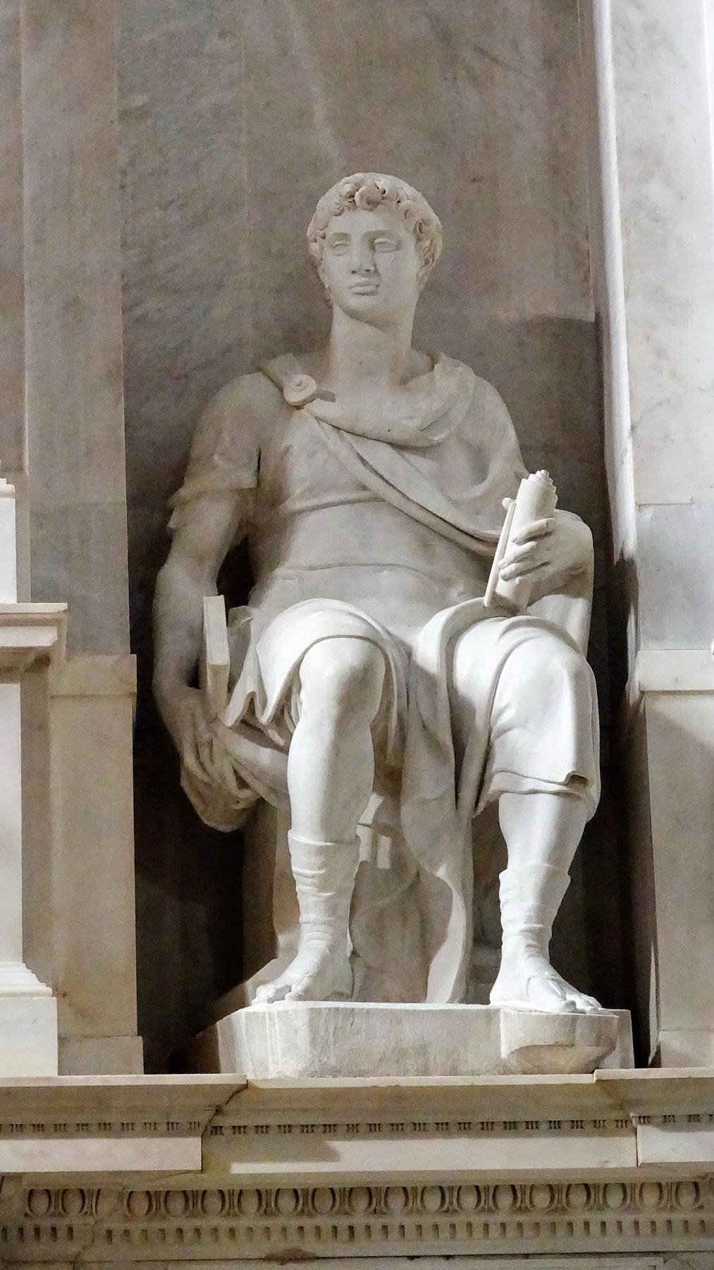 Raffaello da Montelupo, Profeta (1537-1545; marmo; Roma, San Pietro in Vincoli). Ph. Credit Luciano Tronati