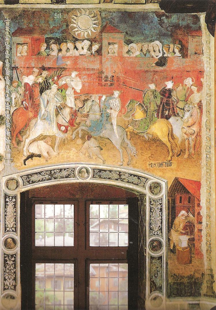 Magister Venceslao, Mese di febbraio (1391-1407; affresco; Trento, Castello del Buonconsiglio, Torre Aquila)