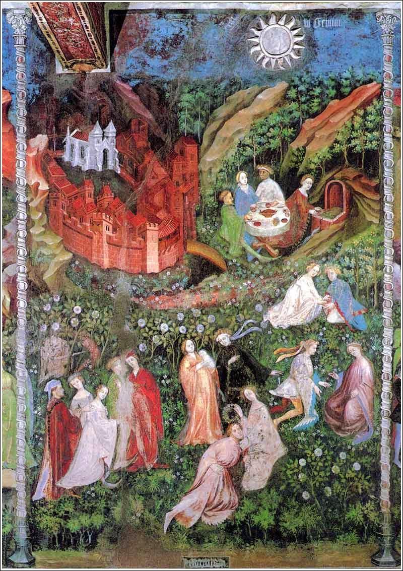 Magister Venceslao, Mese di maggio (1391-1407; affresco; Trento, Castello del Buonconsiglio, Torre Aquila)