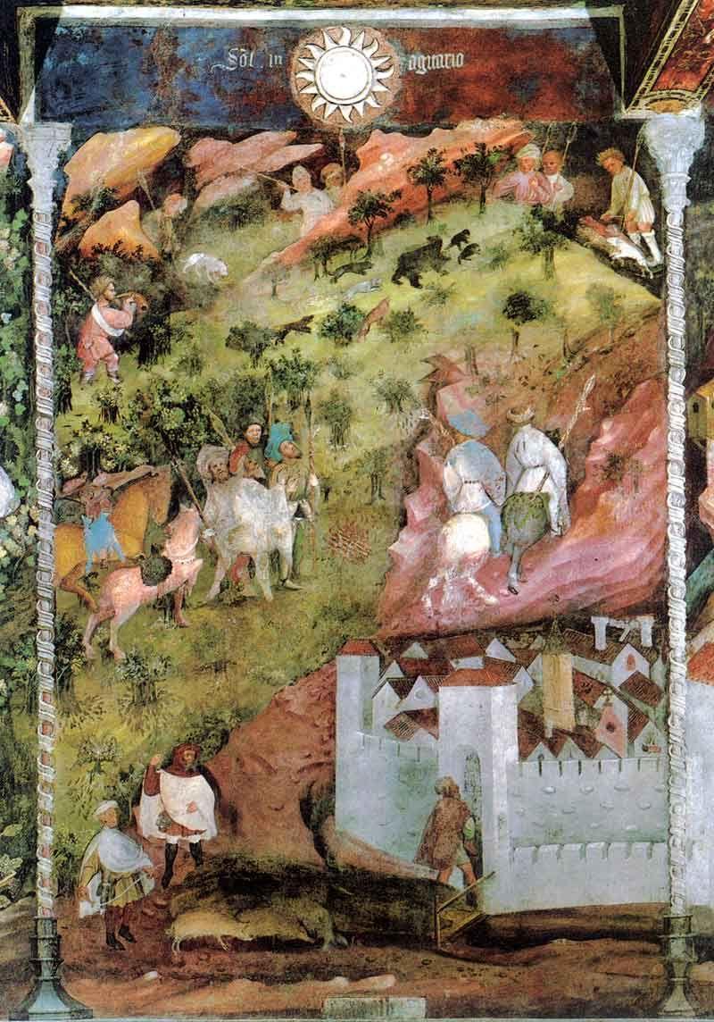 Magister Venceslao, Mese di novembre (1391-1407; affresco; Trento, Castello del Buonconsiglio, Torre Aquila)