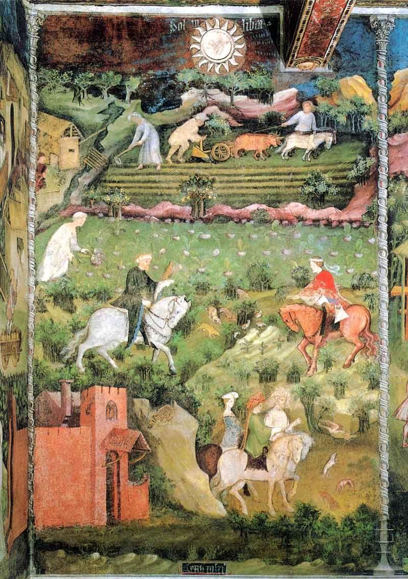 Magister Venceslao, Mese di settembre (1391-1407; affresco; Trento, Castello del Buonconsiglio, Torre Aquila)