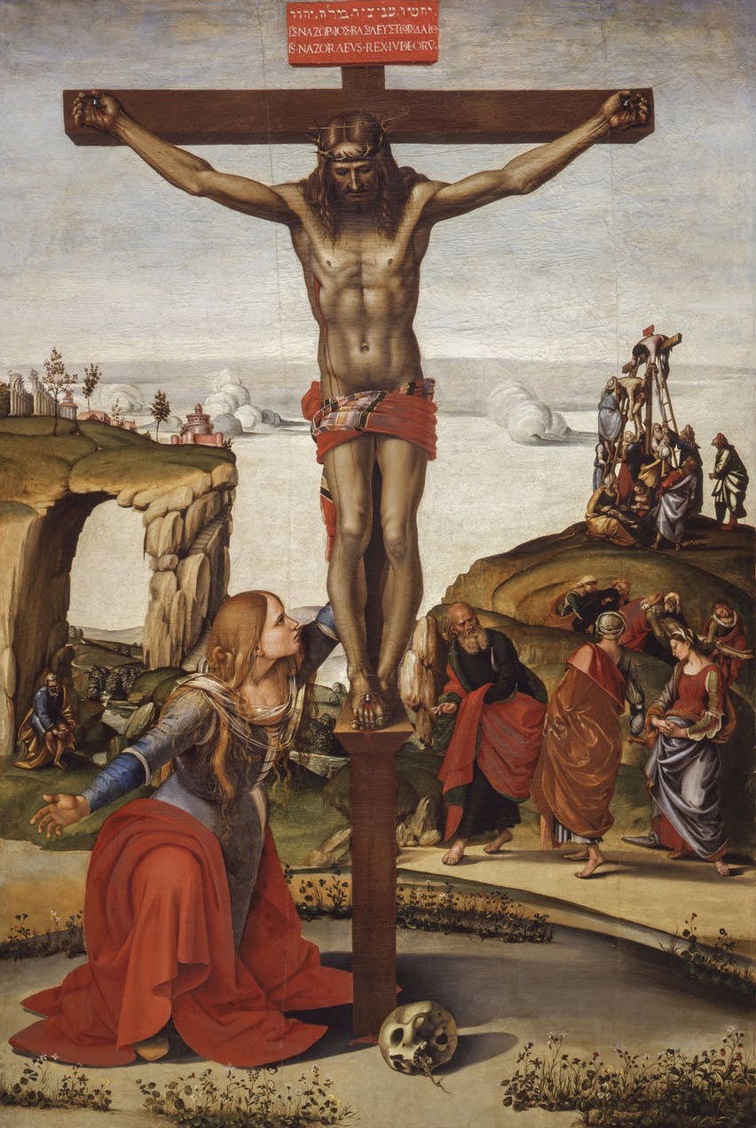 Luca Signorelli, Crocifissione con la Maddalena, nota anche come Crocifissione di Annalena (1490-1498 circa; olio su tela, 249 x 166 cm; Firenze, Galleria degli Uffizi)