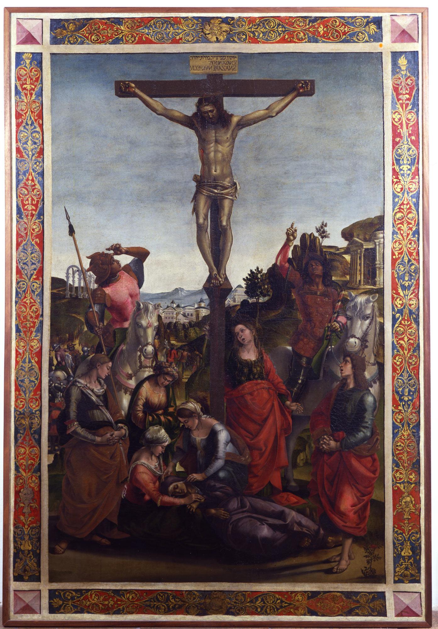 Luca Signorelli, Crocifissione (1494; olio su tela, 156 x 104 cm; Urbino, Galleria Nazionale delle Marche)