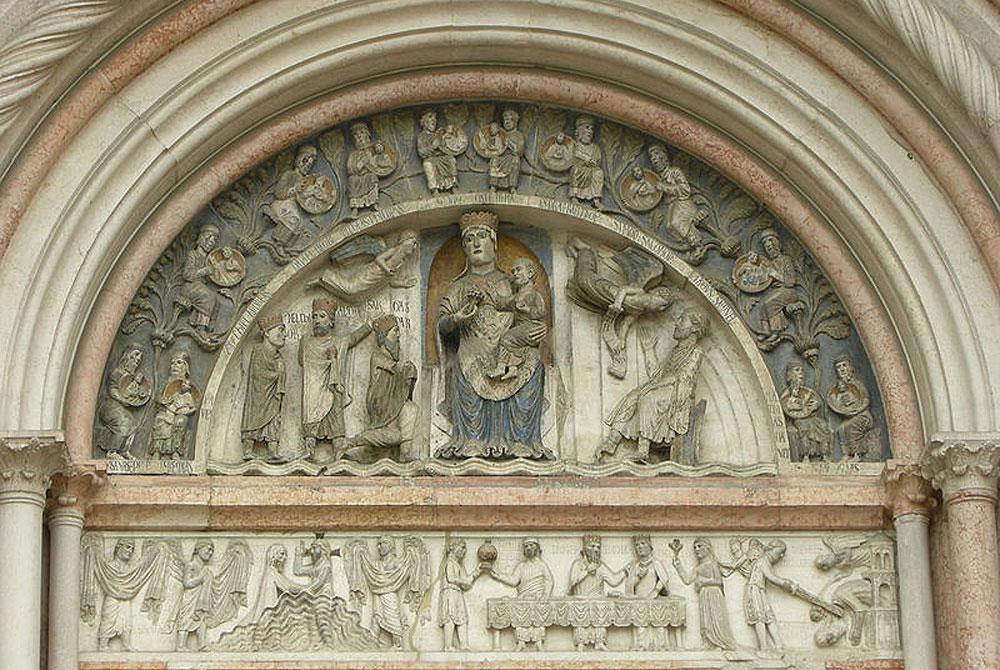 Il portale della Vergine. Ph. Credit Francesco Bini