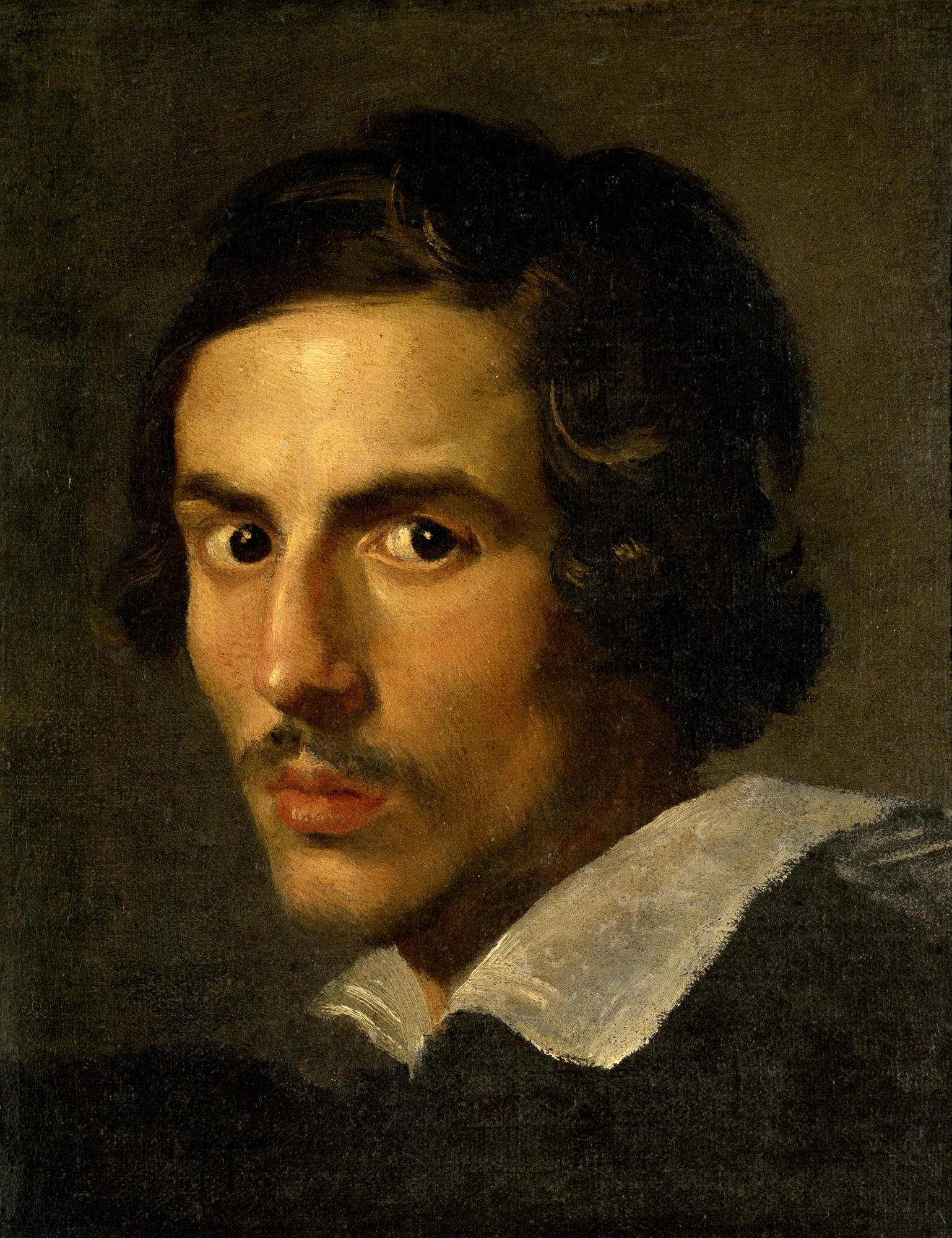 Gian Lorenzo Bernini, Autoritratto (1623 circa; olio su tela, 38 x 30 cm; Roma, Galleria Borghese)