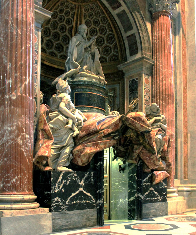 Gian Lorenzo Bernini, Tomba di Alessandro VII. Ph. Credit Karel Jakubec