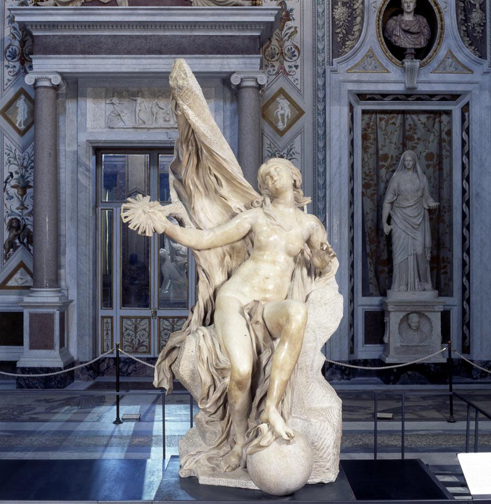 Gian Lorenzo Bernini, La Verità svelata dal Tempo (1646-1652; marmo di Carrara, altezza 277 cm; Roma, Galleria Borghese)