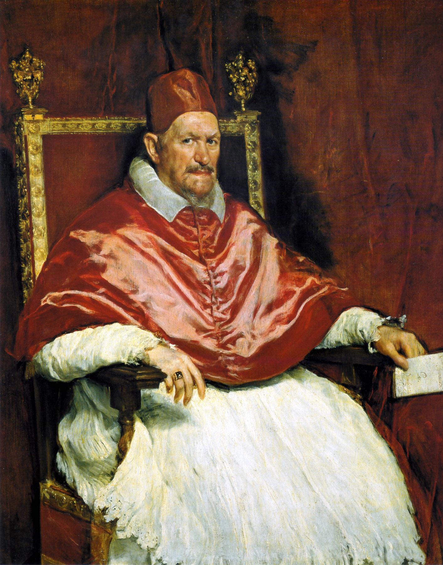 Diego Velázquez, Ritratto di papa Innocenzo X (1650; olio su tela, 140 x 120 cm; Roma, Galleria Doria Pamphilj)