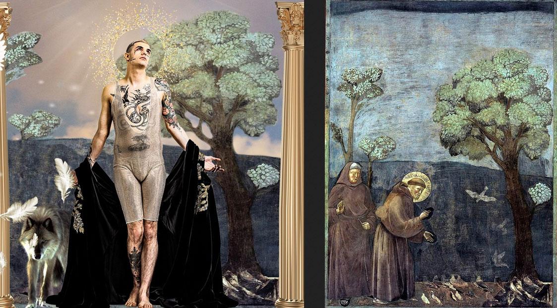 Achille Lauro omaggia Giotto e... prende anche posizione nel dibattito sugli affreschi della Basilica Superiore!