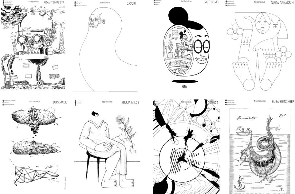 Nasce Coloravirus, un album gratuito con cento disegni da colorare realizzati da artisti e writer