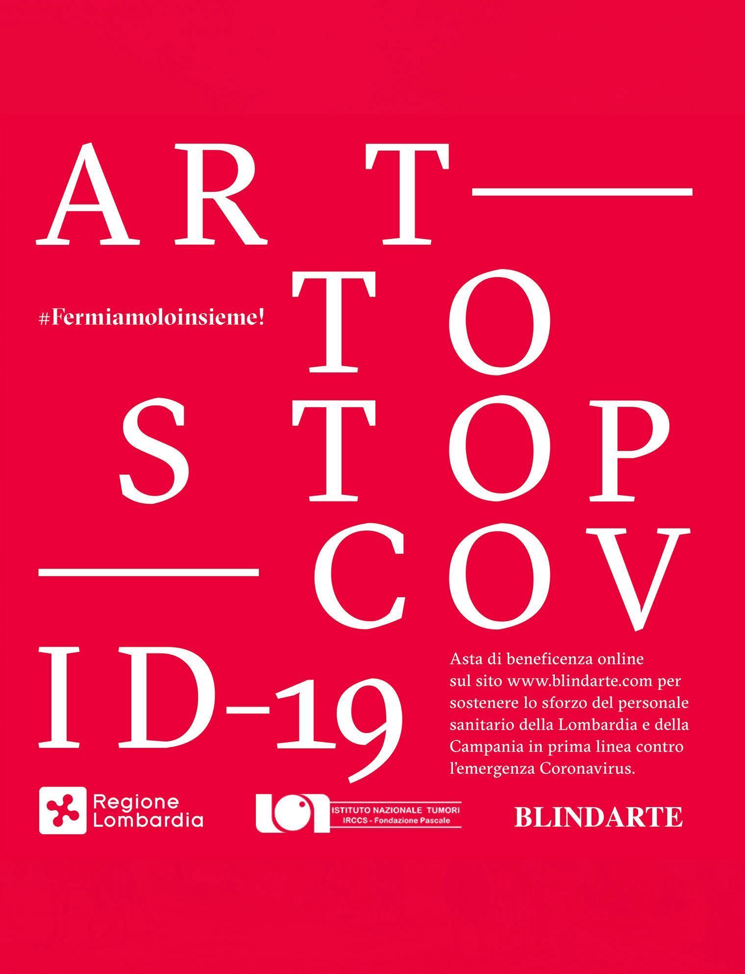 Blindarte propone una vendita di opere di importanti artisti italiani contemporanei per raccogliere fondi contro il Covid-19
