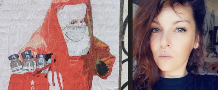 """Milano, no-Covid vandalizzano opera su vaccini e minacciano la street artist: """"ti veniamo a prendere"""""""