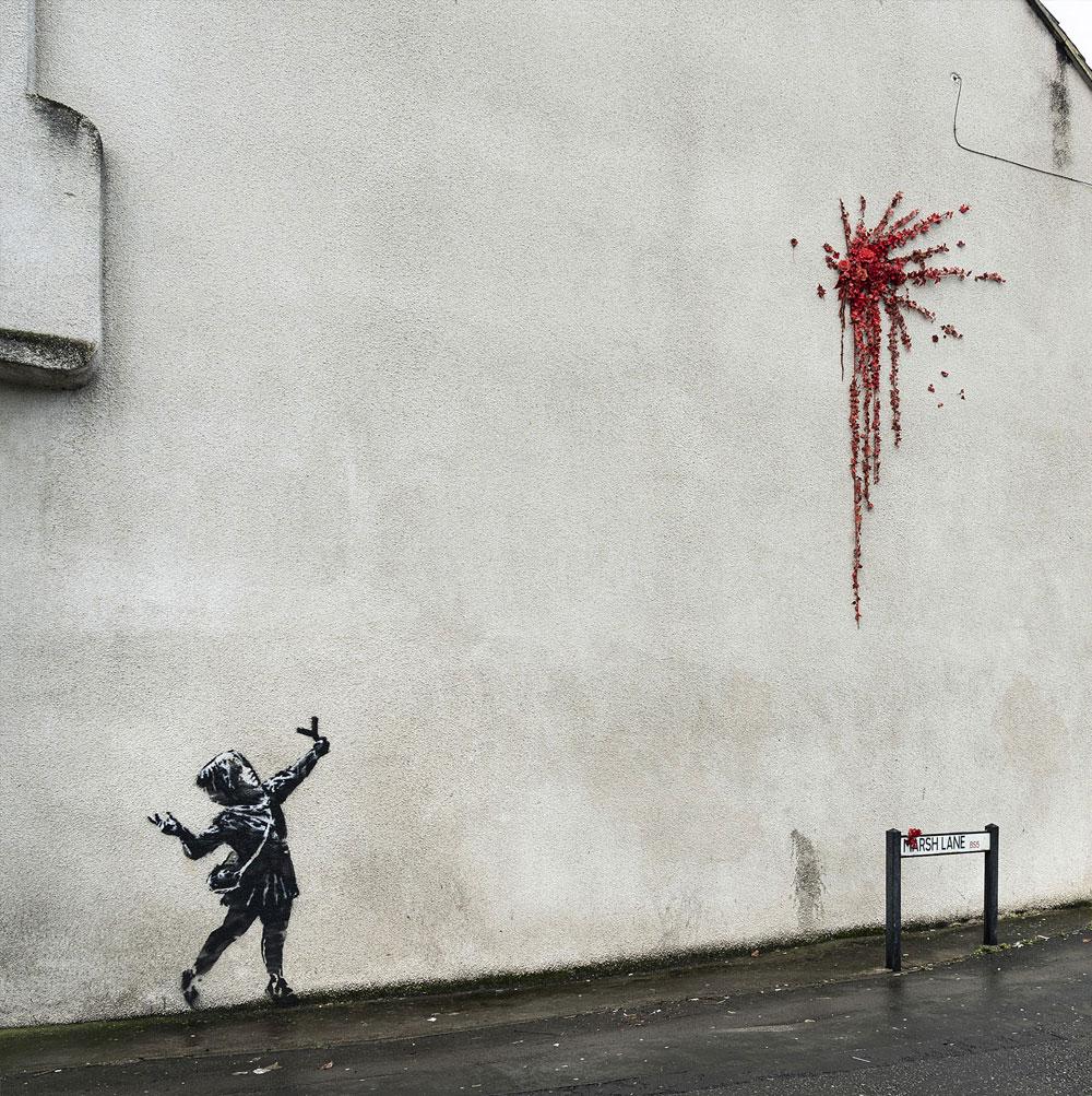 È di Banksy il murales di San Valentino comparso a Bristol