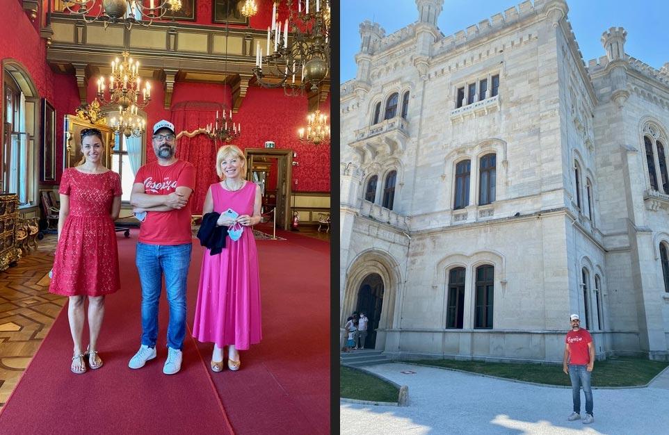 """Trieste, Brunori Sas visita il Castello di Miramare. La direttrice: """"spronerà i giovani"""""""