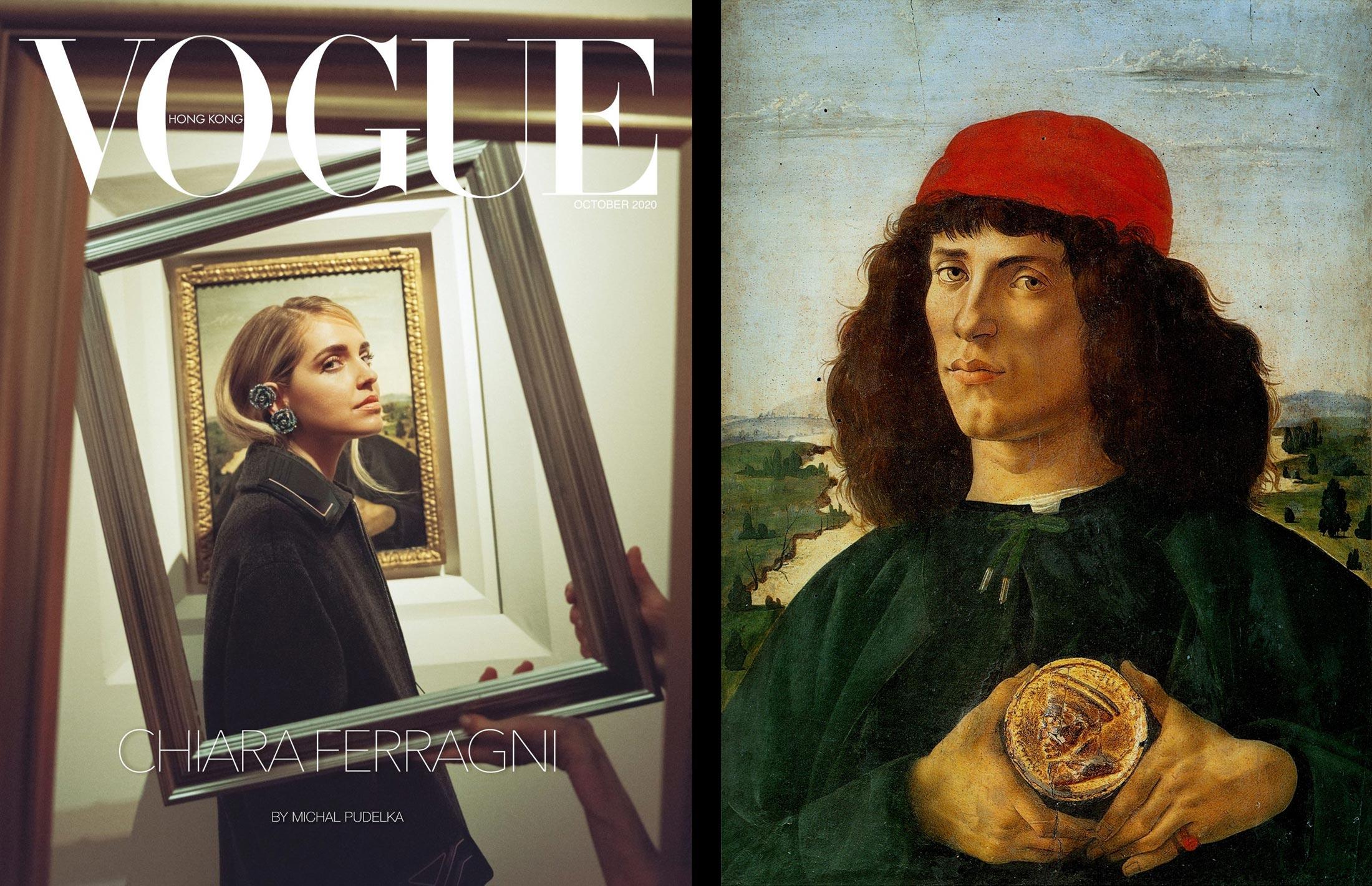 Esce la cover di Vogue con Chiara Ferragni agli Uffizi: e l'influencer impalla Botticelli