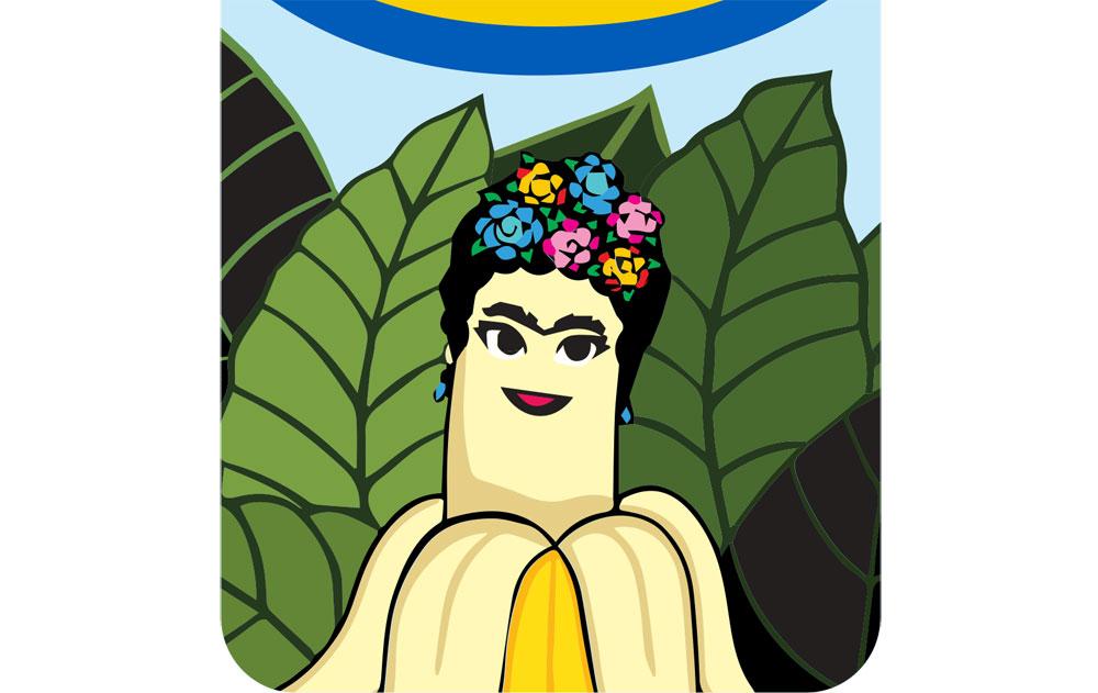 Le più iconiche opere d'arte finiscono... sulle banane