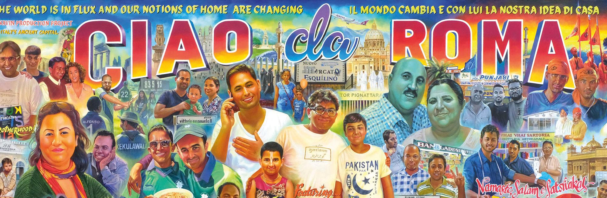 Roma rielaborata in stile Bollywood: il MAXXI acquisisce la grande tela di Navin Rawanchaikul