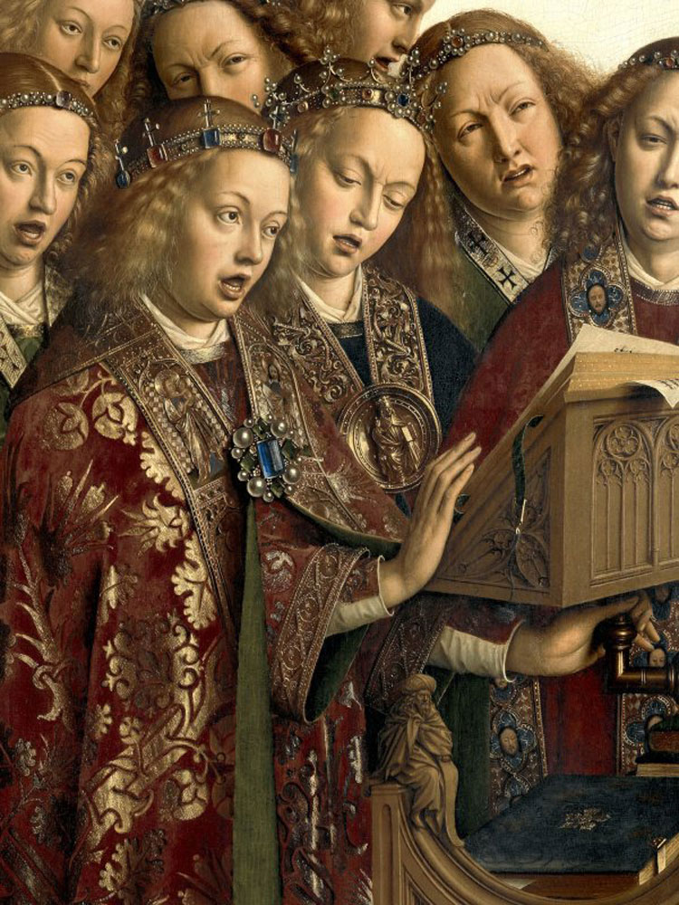 Jan van Eyck conosceva molto bene la musica. La polifonia nel Polittico dell'Agnello Mistico