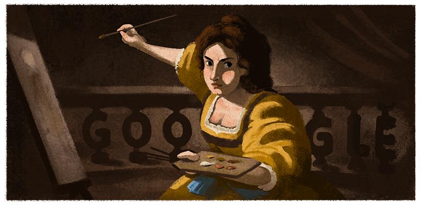 Google oggi rende omaggio ad Artemisia Gentileschi