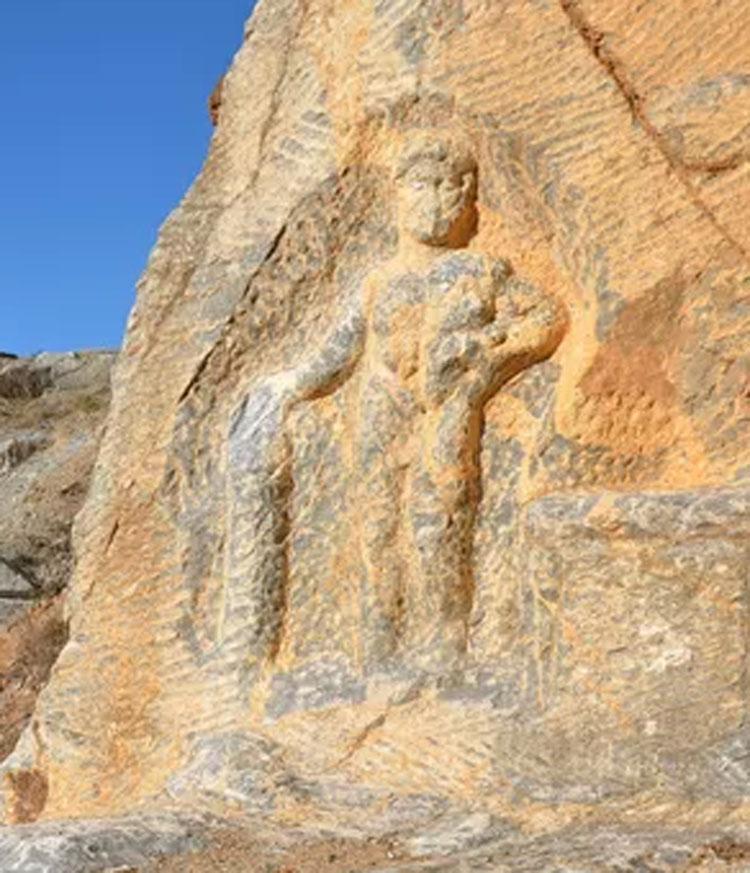 Turchia, danneggiato l'Ercole scavato nella roccia