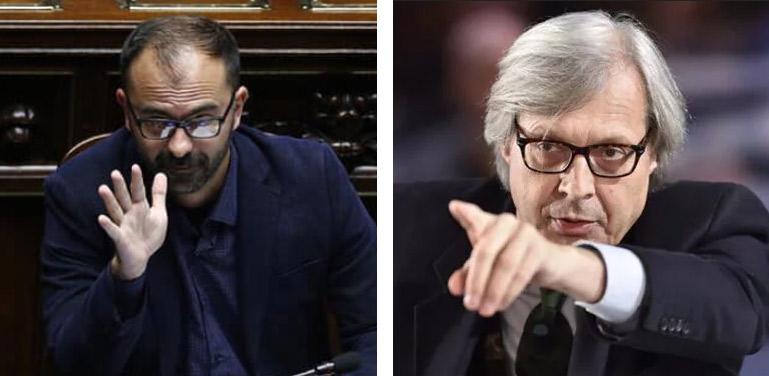 """Comitato Raffaello, Fioramonti sostituisce Sgarbi con Montanari. Sgarbi: """"Fioramonti ignorante come una capra"""""""