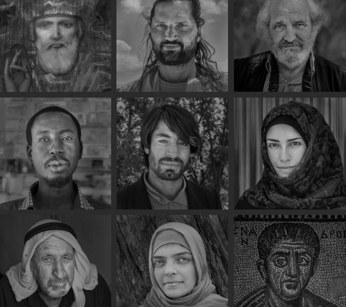 Modena, in mostra i ritratti di profughi e volontari nel polittico di Francesco Radino