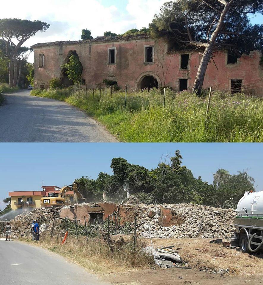 A Giugliano in Campania demolito villaggio del '700 per costruire villette