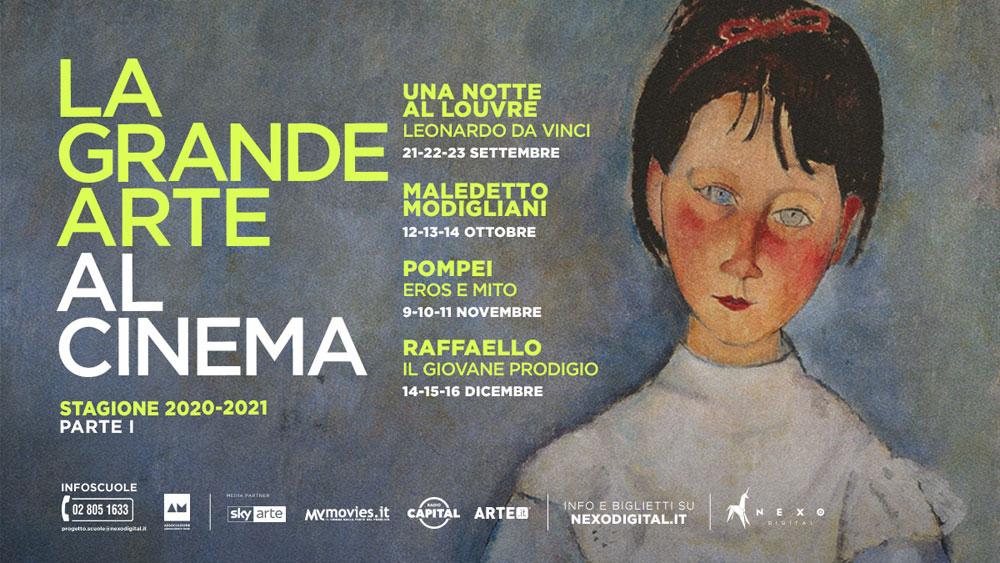 La nuova stagione de La Grande Arte al Cinema vedrà protagonisti Leonardo, Raffaello e Modigliani
