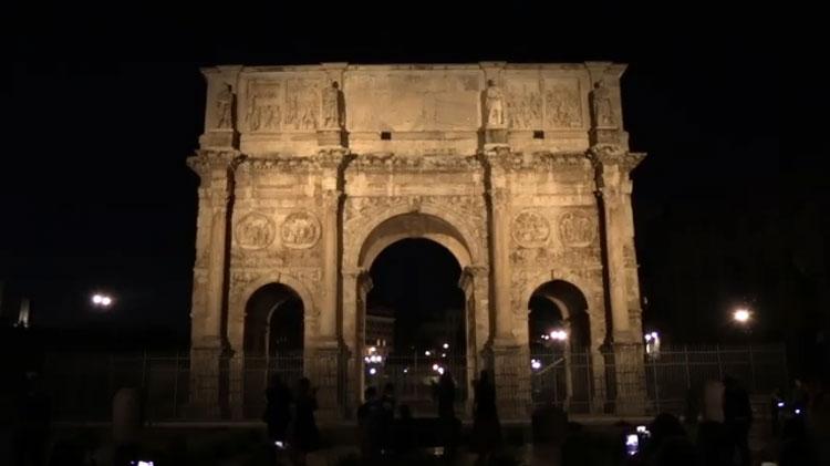 Nuova illuminazione innovativa e sostenibile per l'Arco di Costantino