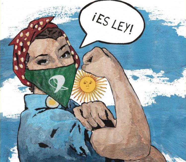 Argentina legalizza l'aborto. La street artist Laika celebra la svolta storica