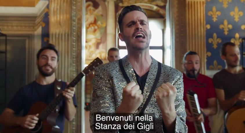 Un Palazzo Vecchio in musica tutto da ridere nel nuovo video di Lorenzo Baglioni, comico e cantante fiorentino
