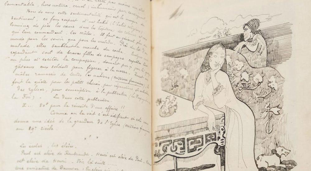Un raro manoscritto di Gauguin entra nelle collezioni della Courtauld Gallery