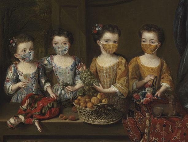 Capolavori con la mascherina: sono le cartoline del Fitzwilliam Museum di Cambridge