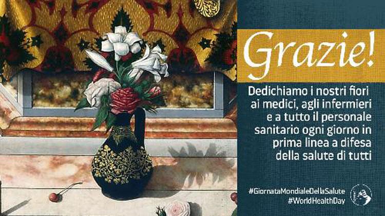 Giornata Mondiale della Salute: il MiBACT ringrazia tutto il personale sanitario con i fiori dell'arte