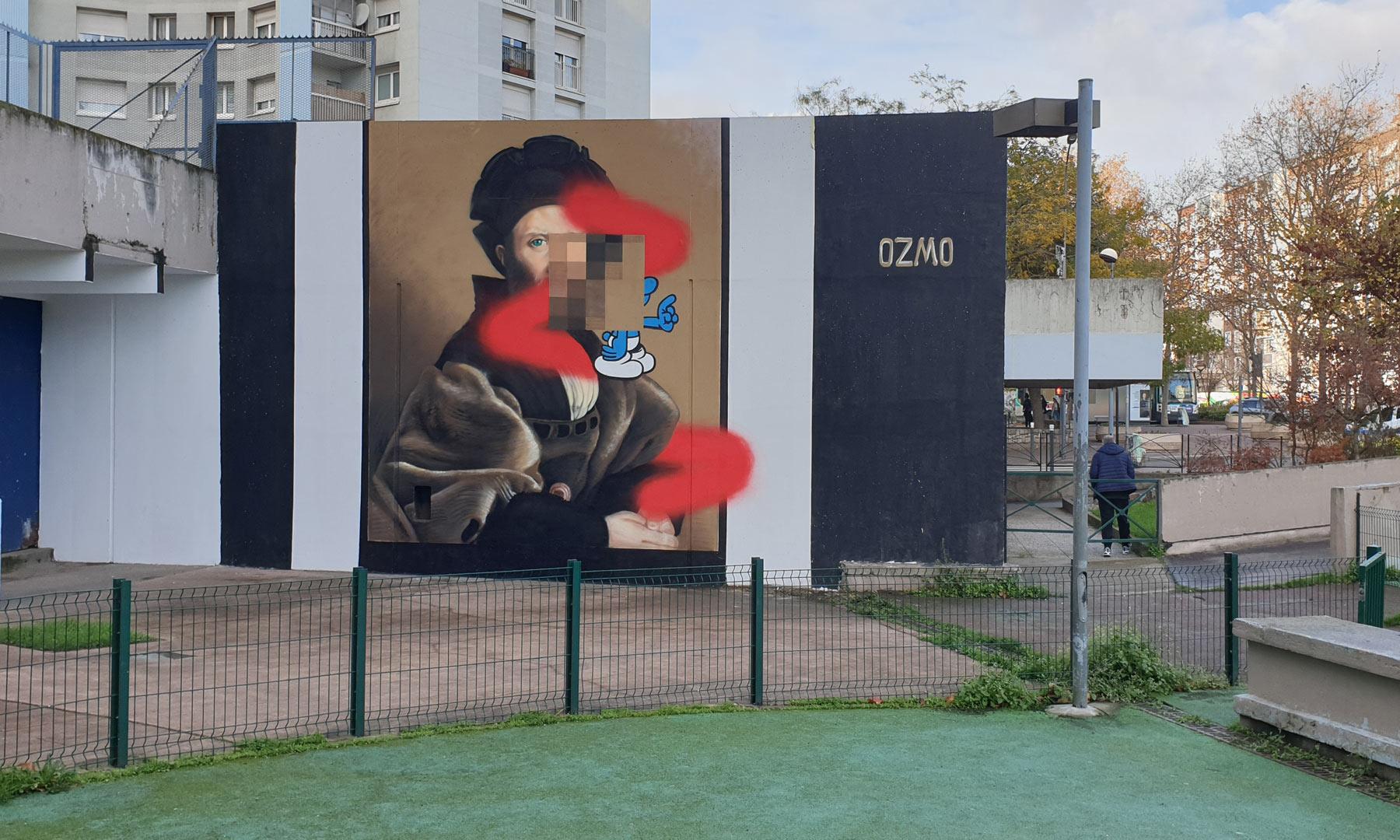 """Il """"Cortegiano"""" rivisitato in chiave street art: l'omaggio di Ozmo a Raffaello"""